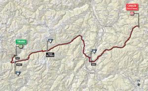 tirano-to-canazei-map